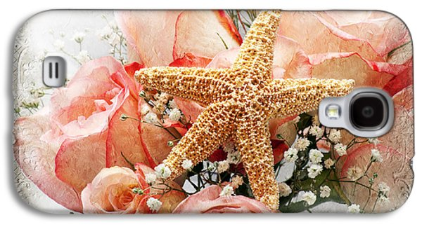 Starfish And Pink Roses Galaxy S4 Case by Andee Design