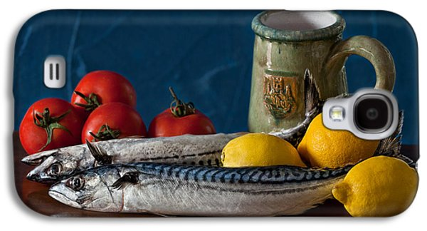 Still Life With Mackerels Lemons And Tomatoes Galaxy S4 Case by Juan Carlos Ferro Duque