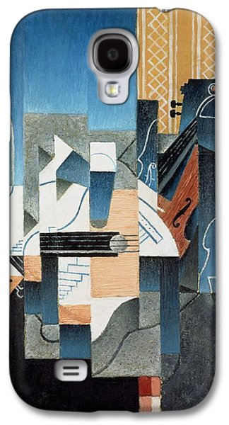 Still Life With Violin And Guitar Galaxy S4 Case by Juan Gris