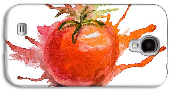 Stylized Illustration Of Tomato Galaxy S4 Case