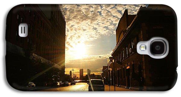 City Sunset Galaxy S4 Case - Summer Sunset Over A Cobblestone Street - New York City by Vivienne Gucwa
