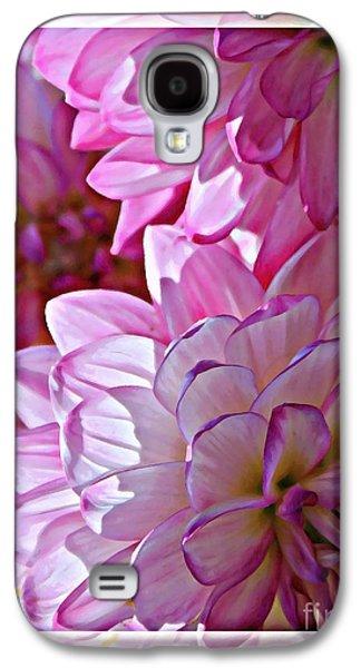 Sunlight Through Pink Dahlias Galaxy S4 Case by Carol Groenen