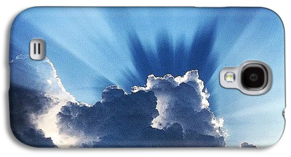 #sunset #clouds #weather #rays #light Galaxy S4 Case
