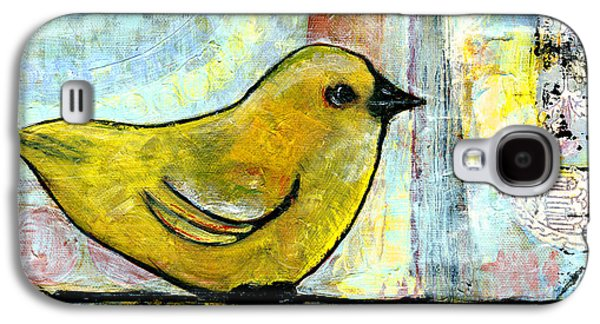 Sweet Green Bird Galaxy S4 Case by Blenda Studio
