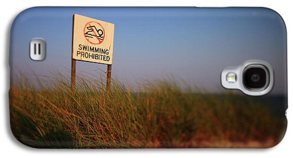 Swimming Prohibited Galaxy S4 Case by Rick Berk