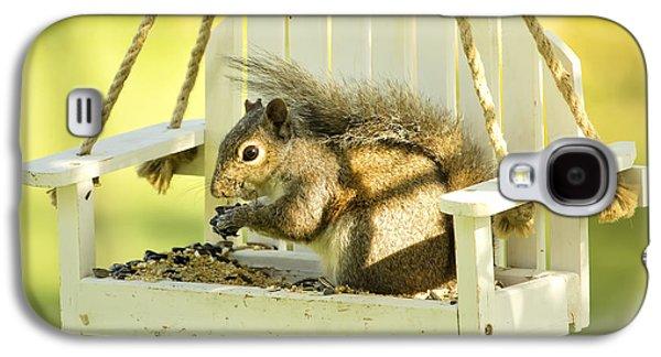 Swingin Squirrel Robber Galaxy S4 Case by Bill Tiepelman