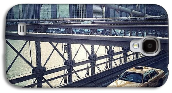 Summer Galaxy S4 Case - Taxi On Bridge by Randy Lemoine