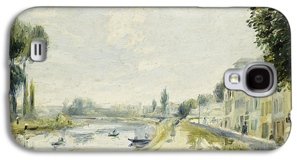 The Banks Of The Seine At Bougival Galaxy S4 Case by Pierre Auguste Renoir