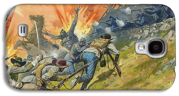 The Battle Of Gettysburg Galaxy S4 Case by Severino Baraldi