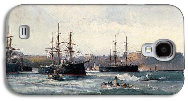 The Channel Fleet Off Scarborough Galaxy S4 Case by William Lionel Wyllie