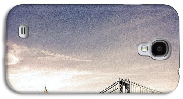 The Manhattan Bridge And New York City Skyline Galaxy S4 Case