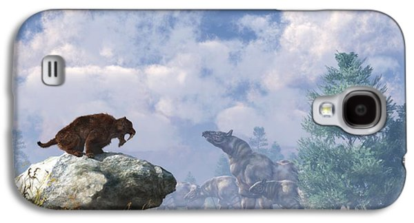 The Paraceratherium Migration Galaxy S4 Case by Daniel Eskridge