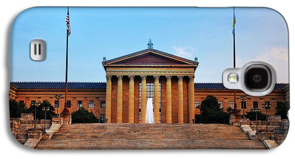 The Philadelphia Museum Of Art Front View Galaxy S4 Case by Bill Cannon