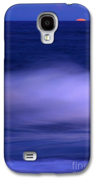 The Red Moon And The Sea Galaxy S4 Case by Hannes Cmarits