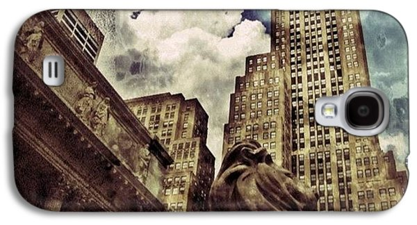 Sky Galaxy S4 Case - The Resting Lion - Nyc by Joel Lopez