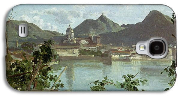 The Town And Lake Como Galaxy S4 Case