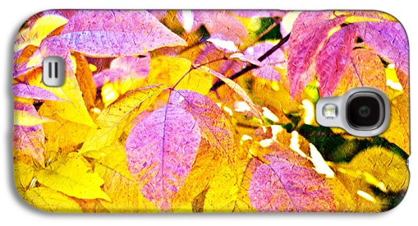 The Warm Glow In Autumn Abstract Galaxy S4 Case by Andee Design