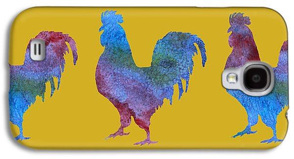 Three Roosters Galaxy S4 Case by Jenny Armitage