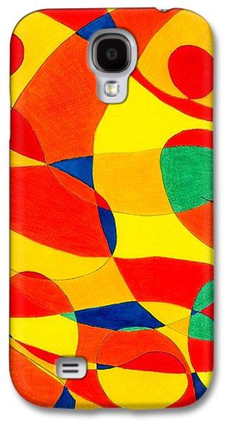 Tiger Eyes Galaxy S4 Case by Lesa Weller