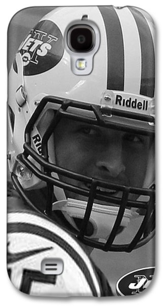 Tim Tebow - Black And White - New York Jets Florida Gators - Timothy Richard Tebow Galaxy S4 Case by Lee Dos Santos