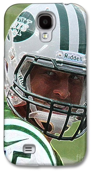 Tim Tebow Art Deco IIi - New York Jets -  Galaxy S4 Case by Lee Dos Santos