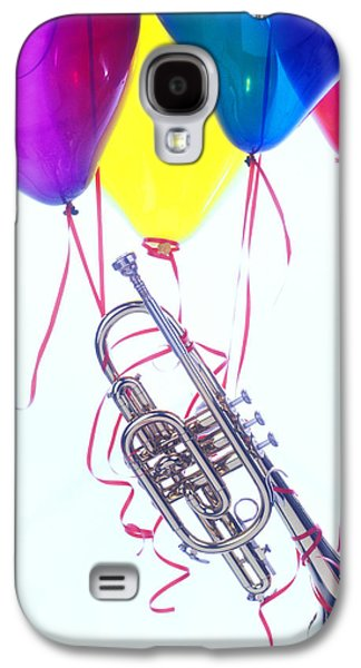 Trumpet Lifted By Balloons Galaxy S4 Case
