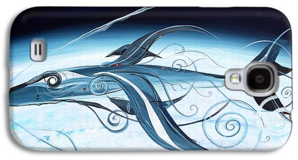 U2 Spyfish - Spy Plane As Abstract Fish - Galaxy S4 Case by J Vincent Scarpace
