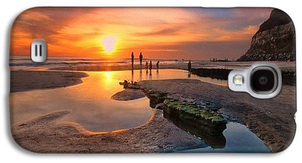 Ultra Low Tide Sunset At A North San Galaxy S4 Case by Larry Marshall