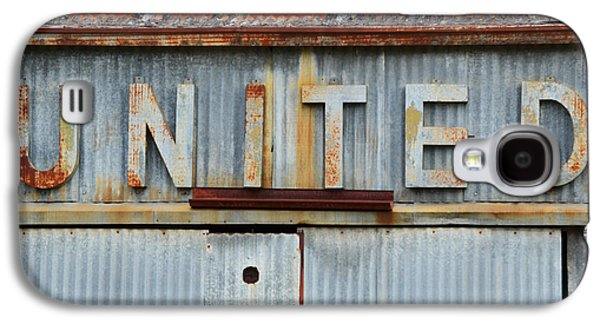 United Rusted Metal Sign Galaxy S4 Case by Nikki Marie Smith