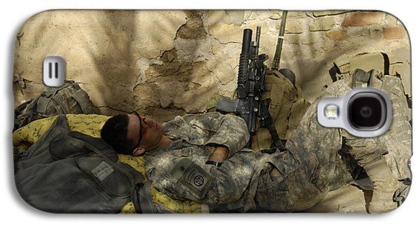 Minotaur Galaxy S4 Case - U.s. Army Specialist Takes A Nap by Stocktrek Images
