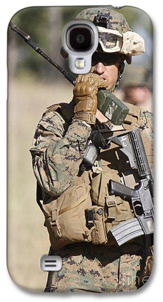 U.s. Marine Radios His Units Movements Galaxy S4 Case