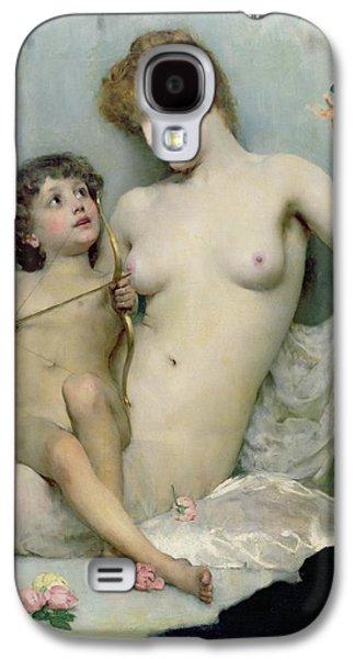 Venus And Cupid Galaxy S4 Case by Solomon Joseph Solomon