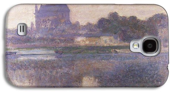 Vernon Church In Fog Galaxy S4 Case by Claude Monet