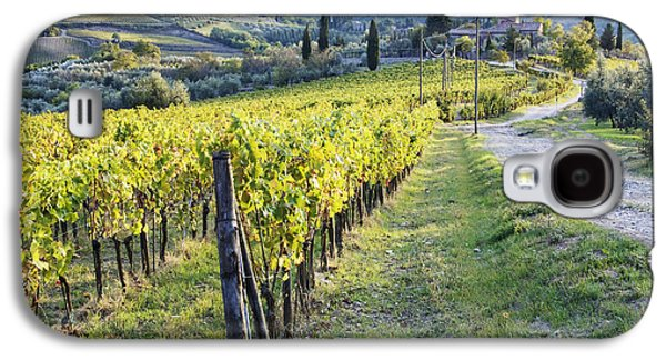 Vineyards And Farmhouse Galaxy S4 Case by Jeremy Woodhouse