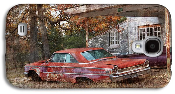 Vintage 1950 1960 Ford Galaxy Red Car Photo Galaxy S4 Case by Svetlana Novikova