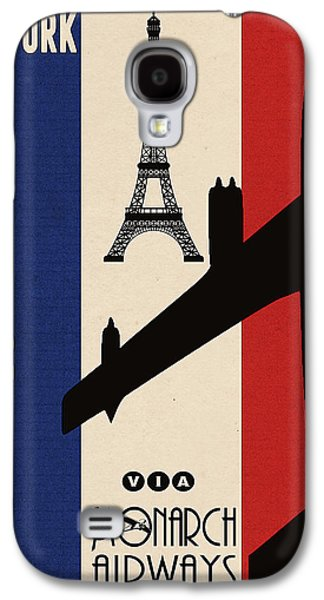 Travel Galaxy S4 Case - Vintage Air Travel Paris by Cinema Photography