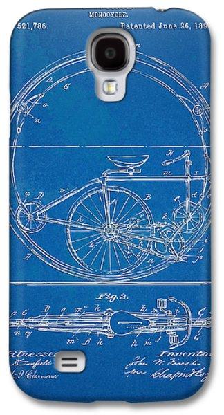 Vintage Monocycle Patent Artwork 1894 Galaxy S4 Case
