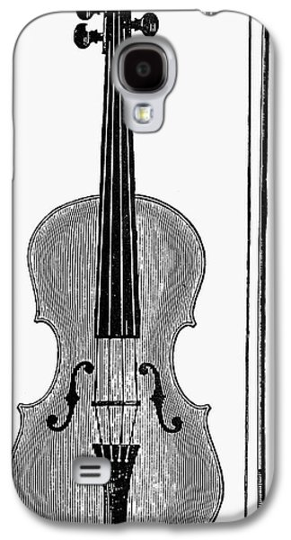 Violin Galaxy S4 Case - Violin And Bow by Granger