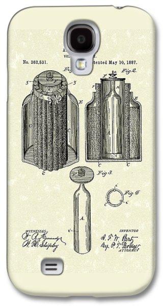 Voltaic Battery 1887 Patent Art Galaxy S4 Case