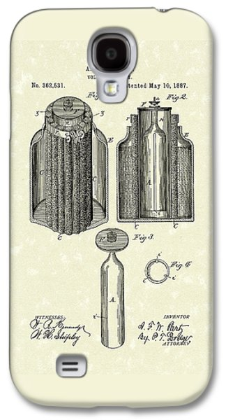 Voltaic Battery 1887 Patent Art Galaxy S4 Case