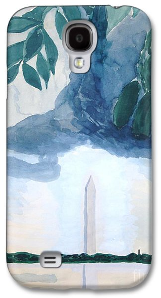 Galaxy S4 Case featuring the painting Washington Monument by Rod Ismay
