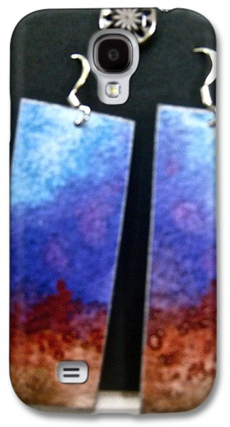 Girl Jewelry Galaxy S4 Cases - Watercolor Earrings Artists Favorite Galaxy S4 Case by Beverley Harper Tinsley