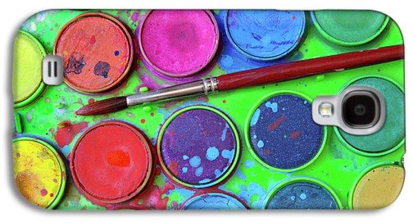 Colored Galaxy S4 Case - Watercolor Palette by Carlos Caetano
