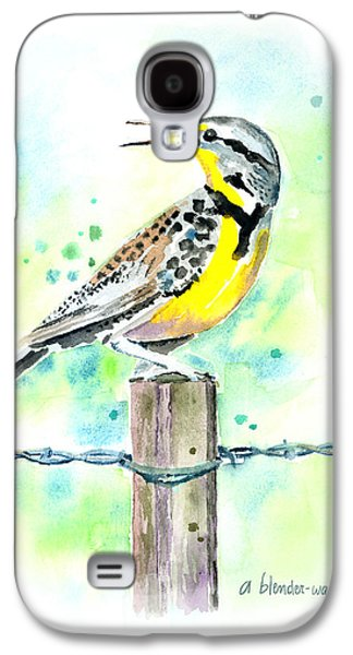 Western Meadowlark Galaxy S4 Case by Arline Wagner