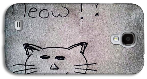 Follow Galaxy S4 Case - What My Room Mates Draw! #cat #drawing by Abdelrahman Alawwad
