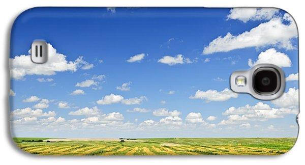 Wheat Farm Field At Harvest Galaxy S4 Case by Elena Elisseeva