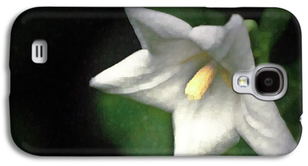 White Balloon Flower-faux Painting Galaxy S4 Case by  Onyonet  Photo Studios