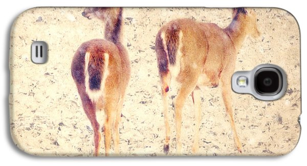 White Tails In The Snow Galaxy S4 Case by Amy Tyler