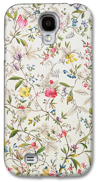 Wild Flowers Design For Silk Material Galaxy S4 Case by William Kilburn