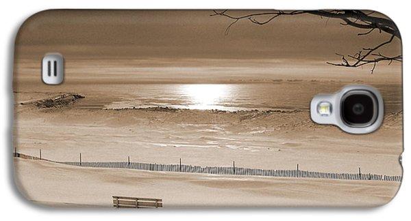 Winter Beach Morning Sepia Galaxy S4 Case